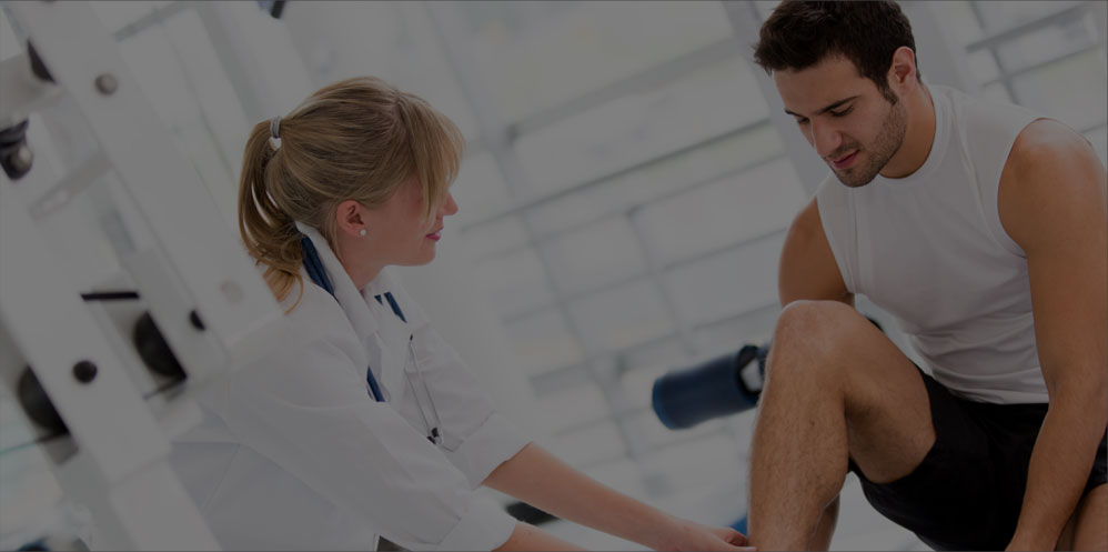 A man receiving physical therapy